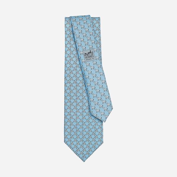 爱马仕折纸骏马领带  图片源自品牌