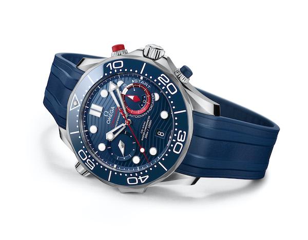 欧米茄全新海马系列300米潜水计时表美洲杯版搭配橡胶表带