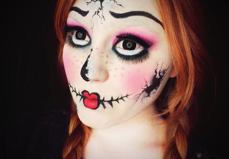 可爱小丑妆图片彩铅